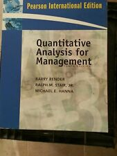 Quantitative Analysis for Management:International Edition 10th ed 9780137129904