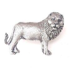 Lion/Roi De La Jungle Finement Fabriqué à la main en étain massif au Royaume-Uni