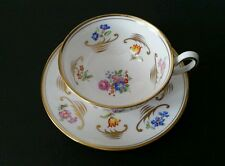 Royal Chelsea Gold Gilt Tea Cup & Saucer Floral Made in England Bone China