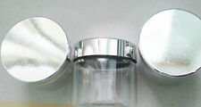 10 x 50ML CLEAR PLASTIC JARS WITH METALISED TOPS