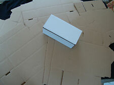 20 White Corrugated Shipping Box 8x4x3 Sunglasses Cardboard Carton Packing Maile
