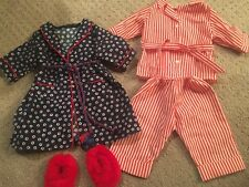 Molly's Pajamas, Robe & Fuzzy Red Slippers - American Girl - No Box
