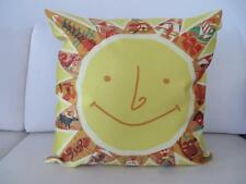 Sunshine Happy Smiley Face Faux Silk Cushion Cover 45cm Home Decor