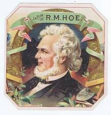 La Flor De R.M. Hoe, original outer cigar box label, man