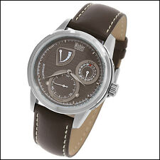 WOHLER KANT MENS 28J AUTOMATIC LUXURY WATCH NEW WITH DEFECT TAUPE DIAL LEATHER