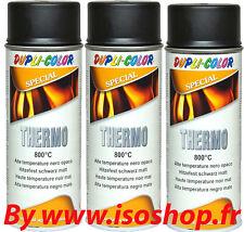 Peinture Aérosol echappement moteur noir graphite  thermique  3x400ml RAL9011