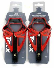 Tacx Deva Water Bottle Cages PAIR Red