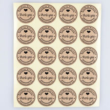 100pcs 25mm hand made with love sticker kraft paper wedding thank you labels