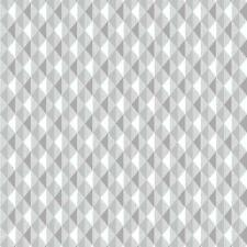 Rasch Harlequin Triangle Stripe - In Grey - Kitchen & Bathroom  Wallpaper 887907