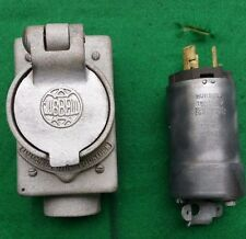 Vintage Hubbell Aluminum Heavy Duty Electrical Power Outlet