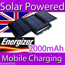 ENERGIZER SP2000 SOLAR MAINS  MOBILE CHARGER BATTERY POWER PACK IPHONE IPOD