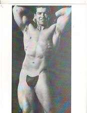 bodybuilder young LARRY SCOTT Posing Strap Bodybuilding  Muscle Photo B&W