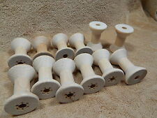 Large Hardwood Wood Wooden Thread Spools Lot of 12 School Projects Crafts