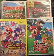 Great Wii Lot Mario,Zelda,Donkey Kong,Sonic Lot Kids Games