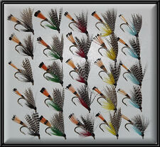 25 TEALS TROUT SCOTTISH HAND TIED FISHING FLIES WET TEAL FLY for rod reel line