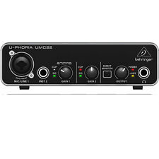 Behringer U-PHORIA UMC22 2x2 USB Home Studio Audio Recording Interface +Software