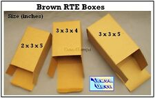 Brown RTE Boxes 3x3x5 inches package/50 Great for inner packaging, small gifts