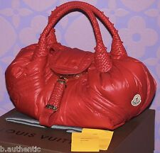 MONCLER FENDI Spy Bag Wet RED Quilted Down Puffer ONLY 500 MADE *LIMITED* $2400+