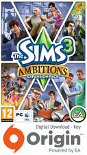 Les sims 3 ambitions expansion pack mac et pc origin key