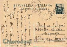 INTERO POSTALE REPUBBLICA ITALIANA 1952 CHLORODONT - 20 LIRE  C5-535