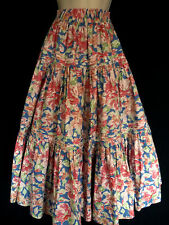 VINTAGE LAURA ASHLEY FLORAL 1950s STYLE TIERED MAXI GYPSY SKIRT, 10, 12, 14, 16