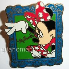 Disney 12 Months of Magic Minnie Mouse Waving in Blue Picture Portrait Frame Pin