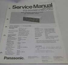 Panasonic Auto AM-FM Cassette Analog Radio Service Manual CQ-S505 BEU CEU