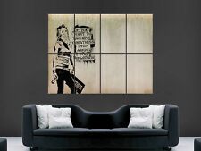 BANSKY GRAFFITI STREET ART GREATNESS GIANT WALL POSTER  PICTURE PRINT LARGE HUGE