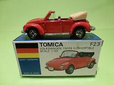 TOMICA F23 VW VOLKSWAGEN 1303S CONVERTIBLE - RED 1:60 - GOOD CONDITION IN BOX