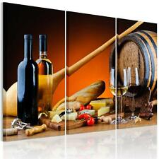 3pcs/set HD Canvas Print Home Decor Wall Art Painting Picture-Food&Wine Unframed