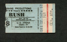 1977 Rush Grinderswitch concert ticket stub UD Arena Dayton Farewell To Kings