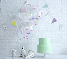 """Set colorido de globos llenos de confeti Multi ~ De Lujo Calidad Grande 12"""" ~ 5pk"""