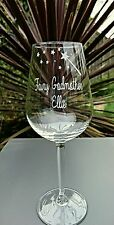 Personalised Engraved Fairy Godmother Wine Glass - Christening Gift