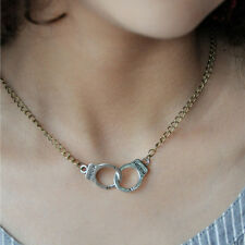 Fashion Jewelry Handcuffs Choker Pendant Necklace Women Valentine's Day HF