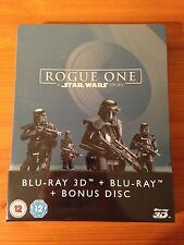 Rogue One: A Star Wars Story 2D & 3D Blu Ray Steelbook Zavvi UK Exclusive-Sealed