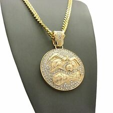 """Hip Hop Iced Out Rapper Fly Airplane Pendant 2mm 24"""" Box Chain Necklace SPXTP41"""