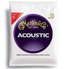 3 Pack Martin M140  Light Acoustic 80/20 Bronze Strings. 12-54 Gauge. M140PK3