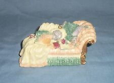 Miniature CHAISE LOUNGE Fainting COUCH Christmas Tree Ornament Figurine Resin