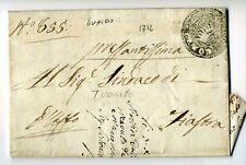 1812 REGNO Napoleon.lettera GUALDO-FIASTRA-t.NEGATIVO CORONA COMUNE GUALDO-g58