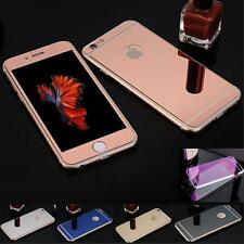 Glass Screen Protector Effect Mirror Front&Back Sticker Skin For iphone4 5 6S 7