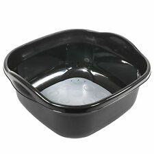 Addis Plastic & Silicone Black Silver Square Washing Up Bowl Kitchen Sink Basin