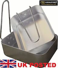 ARMY MESS TINS NATO SPEC STYLE HIGHLANDER CAMP HIKE SAS TA SCOUT D of E Light