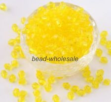 Wholesale 500pcs 4mm 6mm colorful Bicone glass crystal beads.Choose color