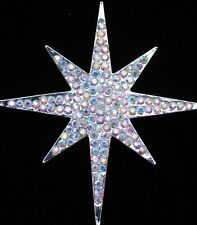 AB RHINESTONE HOLIDAY CHRISTMAS JESUS STAR OF BETHLEHEM PIN BROOCH JEWELRY 2 1/2