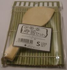 Sushi Mat with rice Paddle  Superior quality Bamboo 1020