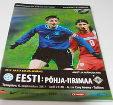 Programme for collectors EURO q * Estonia - Northern Ireland 2011 in Tallinn