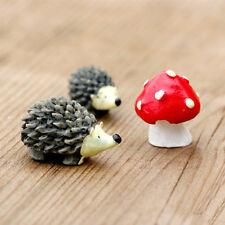 Miniature Garden Fairy Ornament Set Hedgehog & Mushroom Set For Dollhouse Decor