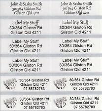 56 Transparent Personalised Name Labels -  Large (46*15mm) Dishwasher Safe