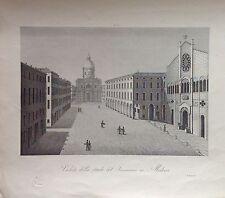 VEDUTA DE  STRADA DEL SEMINARIO MODENA EMILIA ROMAGNA 1845  ZUCCAGNI  ORLANDINI