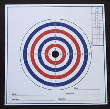 AIR RIFLE PISTOL TARGETS 100No. 280gsm Card. (Not cheap paper targets).